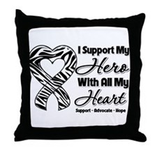 Support Hero Carcinoid Cancer Throw Pillow