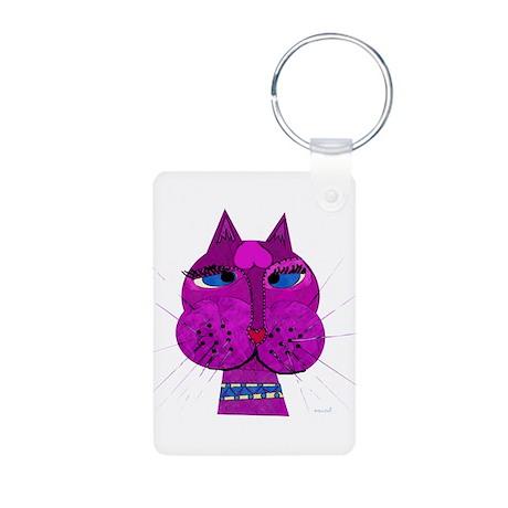 Cross-eyed Over You Kitty Aluminum Photo Keychain
