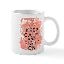 Uterine Cancer Keep Calm Fight On Mug