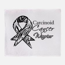 Carcinoid Cancer Warrior Throw Blanket