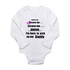 Cute Daddy home Long Sleeve Infant Bodysuit