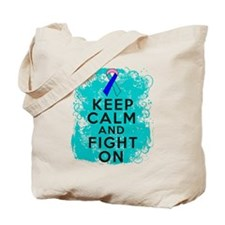 Thyroid Cancer Keep Calm Fight On Tote Bag