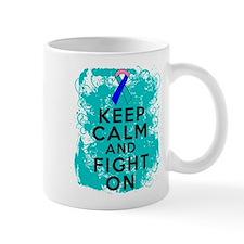 Thyroid Cancer Keep Calm Fight On Mug