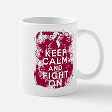 Throat Cancer Keep Calm Fight On Mug