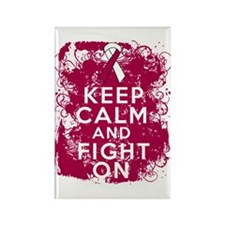 Throat Cancer Keep Calm Fight On Rectangle Magnet