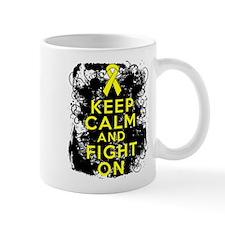 Testicular Cancer Keep Calm Fight On Mug