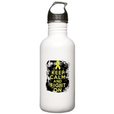 Testicular Cancer Keep Calm Fight On Water Bottle