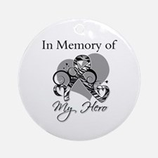 In Memory Carcinoid Cancer Ornament (Round)