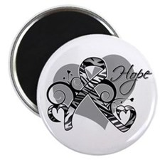 """Carcinoid Cancer Hope Ribbon 2.25"""" Magnet (10 pack"""