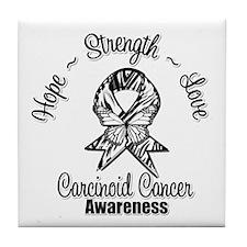 Hope Strength Carcinoid Cancer Tile Coaster