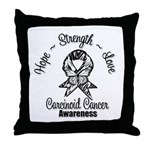 Hope Strength Carcinoid Cancer Throw Pillow
