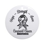 Hope Strength Carcinoid Cancer Ornament (Round)