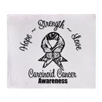 Hope Strength Carcinoid Cancer Throw Blanket