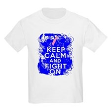 Male Breast Cancer Keep Calm Fight On T-Shirt