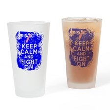 Male Breast Cancer Keep Calm Fight On Drinking Gla