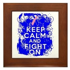 Male Breast Cancer Keep Calm Fight On Framed Tile
