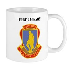 Fort Jackson with Text Small Mug