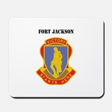 Fort Jackson with Text Mousepad