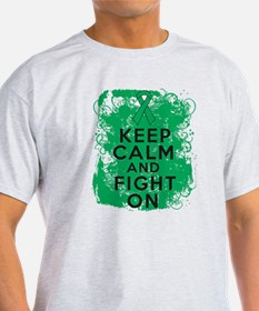 Liver Cancer Keep Calm Fight On T-Shirt