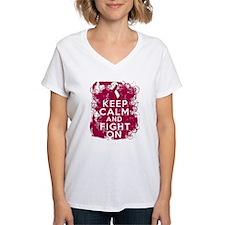 Head Neck Cancer Keep Calm Fight On Shirt