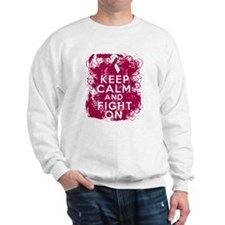 Head Neck Cancer Keep Calm Fight On Sweatshirt