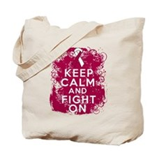 Head Neck Cancer Keep Calm Fight On Tote Bag