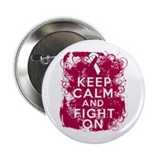 "Head Neck Cancer Keep Calm Fight On 2.25"" Button"