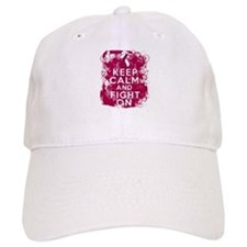Head Neck Cancer Keep Calm Fight On Baseball Cap
