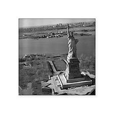 "Vintage Statue Of Liberty Square Sticker 3"" x 3"""