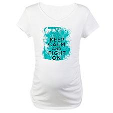 Ovarian Cancer Keep Calm Fight On Shirt