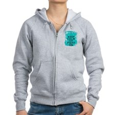 Ovarian Cancer Keep Calm Fight On Zip Hoodie