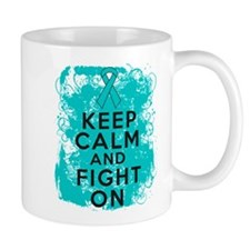 Ovarian Cancer Keep Calm Fight On Mug