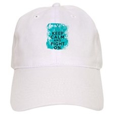 Ovarian Cancer Keep Calm Fight On Cap