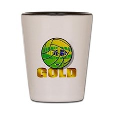 Brazil Volleyball Champions Shot Glass