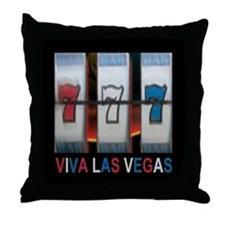 Viva Las Vegas Triple Bar 777 Slot Throw Pillow