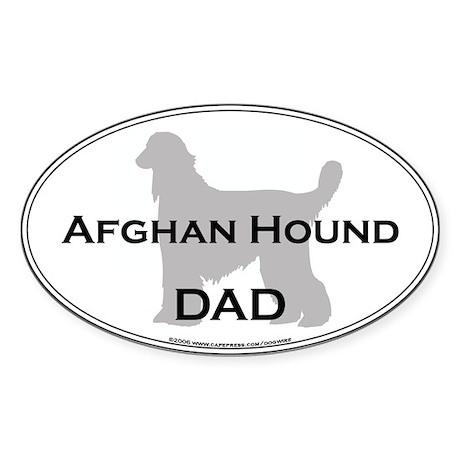 Afghan Hound DAD Oval Sticker