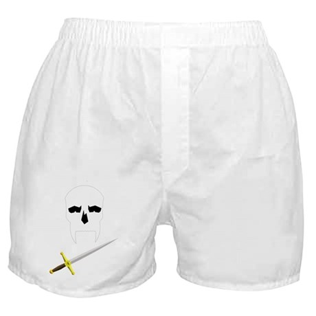 Skull with fancy dagger Boxer Shorts