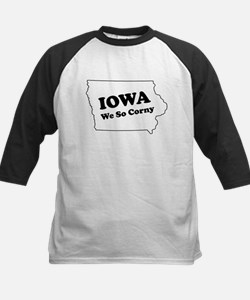 Iowa, We so corny Kids Baseball Jersey
