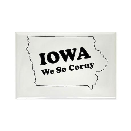 Iowa, We so corny Rectangle Magnet