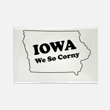 Iowa, We so corny Rectangle Magnet