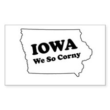 Iowa, We so corny Rectangle Stickers