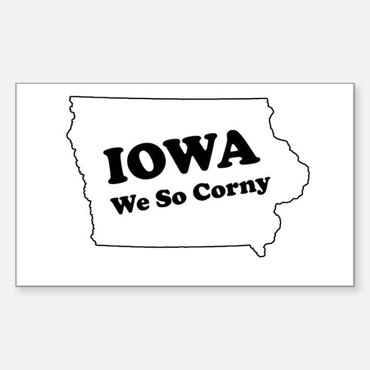 Iowa, We so corny Rectangle Stickers