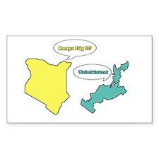 Kenya Dig It? Uzbekistan Rectangle Decal