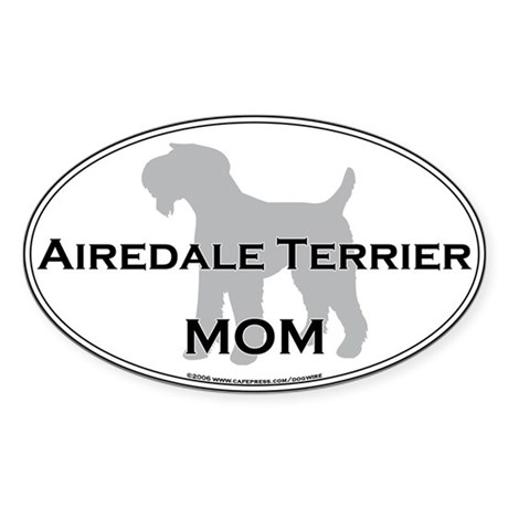 Airedale Terrier MOM Oval Sticker