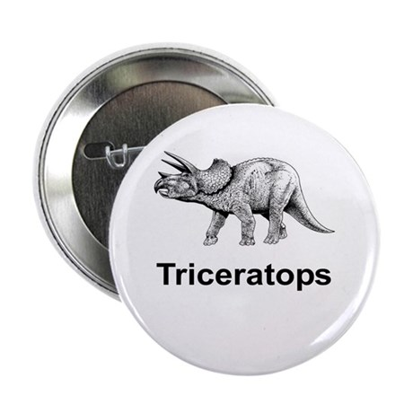 """Triceratops 2.25"""" Button (100 pack)"""