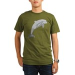 Leaping Dolphin Organic Men's T-Shirt (dark)