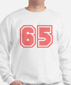 Varsity Uniform Number 65 (Pink) Sweater