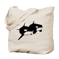 Orca, Killer Whale Couple Tote Bag