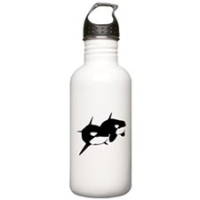 Orca, Killer Whale Couple Water Bottle