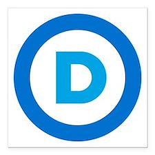 """Democratic Square Car Magnet 3"""" x 3"""""""